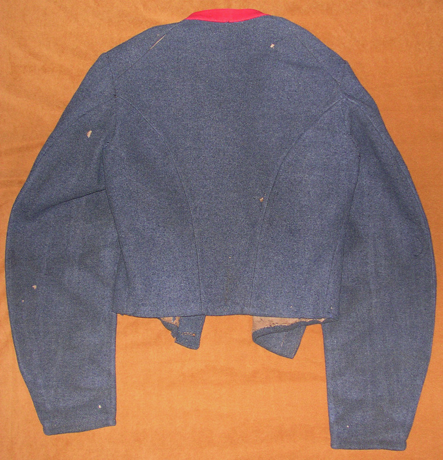 FIG 7: The back of the Durham jacket has the single-piece back placket.  Images courtesy of History Colorado, Francis Marion Durham Collection, Photo. #2005.52.3.v4.